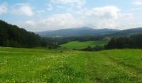 Výhled od Benkovského vrchu na Volyň