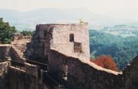 výhled z nejvyššího bodu hradu