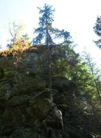skalní hradba na úbočí Žárového vrchu