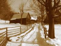 Do Skanzenu v Rožnově pod Radhoštěm v zimě