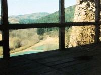 údolí Hložeckého potoka z brumovského hradu