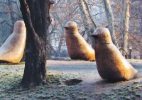 Sochy na Ptačím vrchu v Opavě