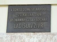 Nová Paka - Legií - pamětní deska a rodný dům Ladislav Zívr