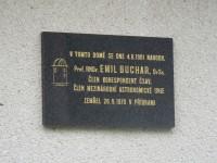Horní Nová Ves 67 - pamětní deska Prof. RNDr. Emil Buchar, DrSc.