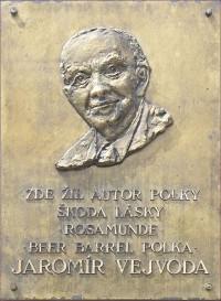 Praha, Zbraslav - pamětní deska Jaromíra Vejvody