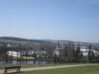 Výhled na město od Santiniho kostela
