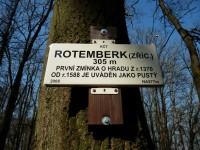 Hrad Rotemberk, už jen minulost