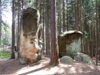 Buddhovy kameny v Lese Království