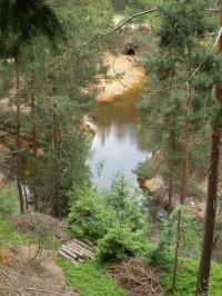 Purpurowe Jeziorko - pohled z výšky