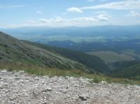 Pod Vyšnou priehybou - pohled na Nízké Tatry