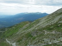 Zeleně značená horská stezka nad Kriváňským žlabem