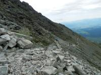 Úbočí Zadného handlu - modře značená horská stezka