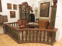 Dioráma jezuitské lékárny a knihovny
