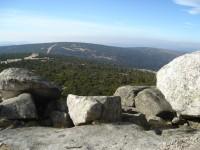 Pohled ze Szrenice západním směrem k Jizerským horám