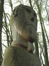 Detail dřevořezby