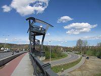 Lahovice - vyhlídkové věže Lahovického mostu a soutok Berounky a Vltavy