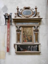 Chrám Sv. Barbory - náhrobní deska s výjevem Velké kalvárie