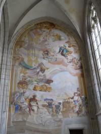 Chrám Sv. Barbory - barokní malba v severní lodi