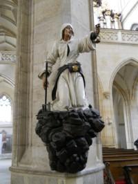 Chrám Sv. Barbory - socha havíře