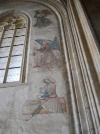 Chrám Sv. Barbory - malby v jižní lodi