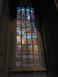 Chrám  sv. Barbory - malovaná okna