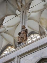 Chrám Sv. Barbory - jedna z dřevěných soch křesťanské ctnosti