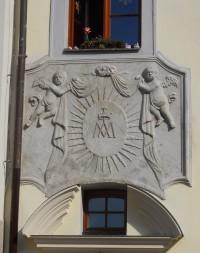 Informační středisko - detail nad vchodem