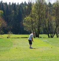 Golf - Svobodné Hamry, jamka číslo 2, 3 par