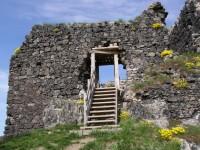 nově vybudovaný vstup do hradu
