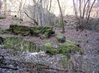 skály v okolí Zahořanského potoka