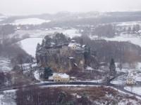 výhled na skalní hrad Sloup