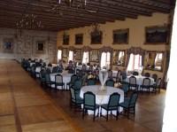 velká jídelna na zámku Mělník