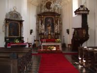 interiér kostela sv.Ludmily