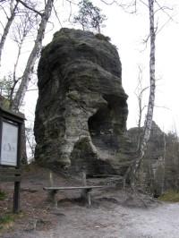 Tiské stěny - skaliska na velkém okruhu