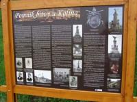 informační tabule u památníku v Křečhoři