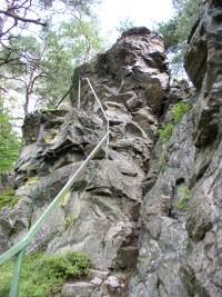 cesta na vyhlídkovou plošinu na Sokolohradech