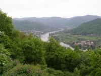 výhled do údolí Labe od Dubického kostelíku
