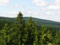 výhled z vrcholu Muchov na Černou Studnici