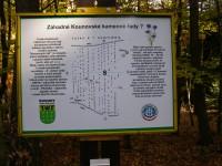 informační tabule o kamenných řadách