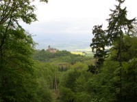 pohled na hrad Sukoslav od sesuvu
