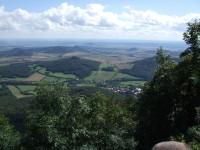 Pohled z Milešovky - Milešov, Ostrý, Košťálov, Hazmburk