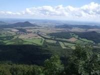 Pohled z Milešovky - Radobýl, Lovoš, Říp, Boreč, Košťálov