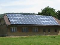 Staré Hutě - solární elektrárna