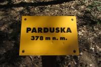 Parduska - vrchol