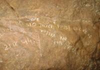 Nápis z SNP z Malej skaly