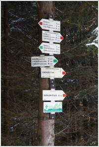 Turistické rozcestí U Bathildina stolku