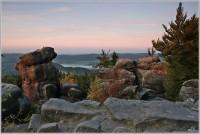 Ranní úsvit z vrcholu Čápa