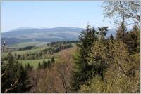 Výhled z Janského vrchu na Krkonoše