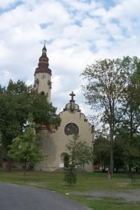 Vyhlídková věž kostela Církve československé husitské v Duchcově