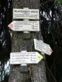 rozcestí na Blatenském vrchu